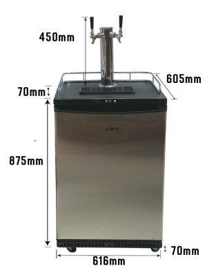 Kegerator - Öltorn/kylskåp 3 Tapp