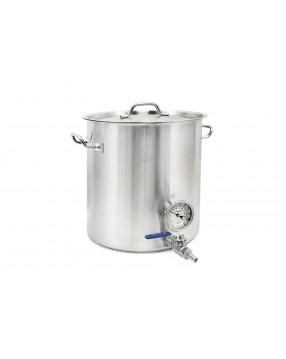 Kittel 35 liter med tappkran och termometer