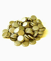 Syreabsorberande  Kapsyler 26 mm Guld (250 st)