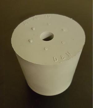 Gummipropp 27/21 mm, m hål