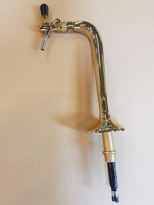 Tapptorn i mässing/guld (Ölstolpe) med en kran